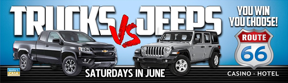 trucks vs jeeps route 66 casino hotel trucks vs jeeps route 66 casino hotel